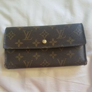 Louis Vuitton Trifold Monogram Long Wallet+Gift